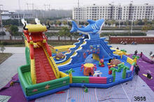 beautiful fire truck inflatable bounce house good quality