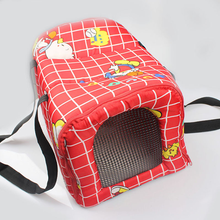 Red Polyester Pet Dog Carrier folding fabric dog crate