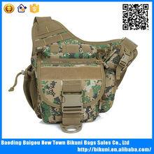 Custom men fashion army military camo canvas hip sack waist pack bag