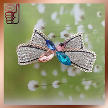 2015 latest butterfly girls hair clips with crystal rhinestones for jewelry decoration (HEA)