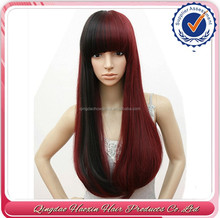 Top quality Heat resistant wholesale 2015 new design beautiful synthetic hair artificial wig