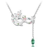 fashion jewelry swarovski element crystal fancy-dress ball mask necklace