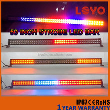 new products offroad led spot light bar 288w 50'' curved led light bar car strobe light flash led light