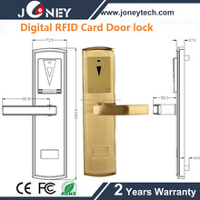 Standalone Hotel room security door lock electronic lock with 13.56mhz card reader