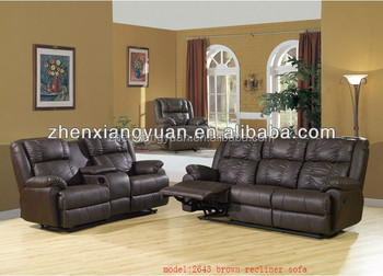 Decoro Brown Leather Sofa Recliner With Lounge Buy Lazy