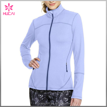 Polyester/spandex High Quality Long Sleeves Workout Jacket Women Sports Clothes