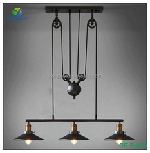 Modern vintage cable pull pendant light for cafe
