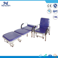 ANVISA CE listed, Foldable Hospital Sleeping Chair Bed