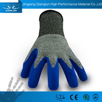 High-class sandy finish nitrile coated cut proof abrasion resistant working gloves
