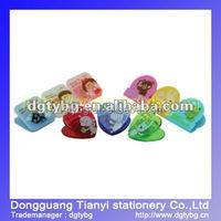 Transparent Color Binder clip decorative binder clips