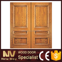 Exterior house front double wood door designs from lowes