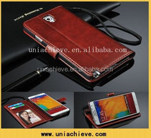 Luxury PU Leather Flip Cresit Card Wallet Stand Case Skin For Samsung Galaxy S6
