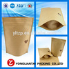 Stand up zipper kraft paper bag for Food Snack Packaging