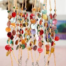 Raffia bracelets natural shell bead charm bracelets anklets holiday gifts