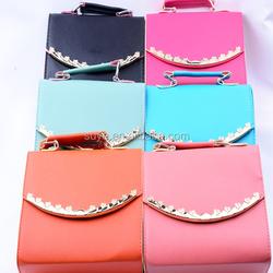 2015 fashion ladies pu handbag / wholesale ladies PU leather hand bag at low price