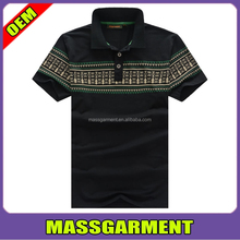 95% polyester 5% elastane men's Polo t Shirt ,color combination polo t-shirt