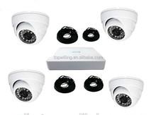4Ch CCTV POE NVR kits with 4pcs 1080P IP Dome surveillance camera 8ch mini NVR