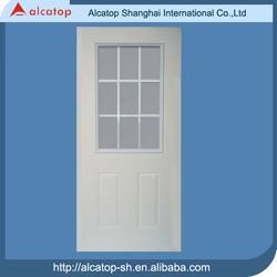 nine grid glass insert office doors