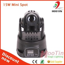 RGB 15W LED Moving Head Light Stage Light, Mini Spot light, LED Disco Light