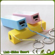 China factory cheap usb keychain charger perfume 2600mah power bank