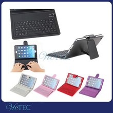 Silicon Bluetooth 4.0 Keyboard Leather Case For iPad mini