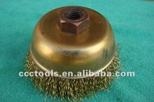 non sparking cup brush , brass wire brush , hand tools