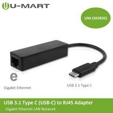 USB 3.1 Type C (USB-C) to RJ45 Gigabit Ethernet LAN Network Adapter