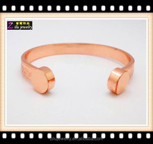 Hot sale high quality new design men's copper anti-static magnetic bracelet