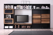 2015 Modern Wood Functional Cheap TV Wall Unit