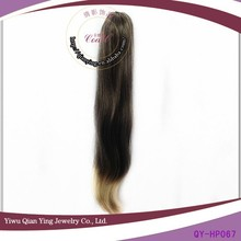 cheap fashion design natural ombre synthetic curly weave ponytail