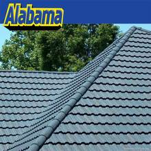 Superior reputation guarantee colored stone coated roof tile, brown color metal roofing shingles