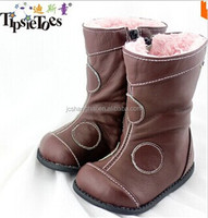 2015 HOT selling turkish shoes sheepskin genuine leather winter child boot motorcycle boot