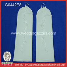 opera length wedding gloves lace and satin gloves