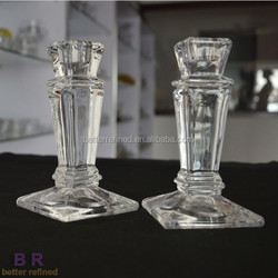 vintage crystal glass empire candlestick