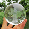 2015 laser etched fengshui crystal dome paperweight