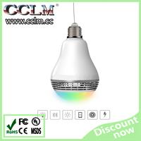 wireless 2015 New LED Bulbs Speakers 4W RGB Smart Colorful LED Bluetooth Speaker light Smart led bulb with bluetooth speaker