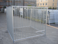 hot dipped galvanized and pvc coated chain link dog kennel panels