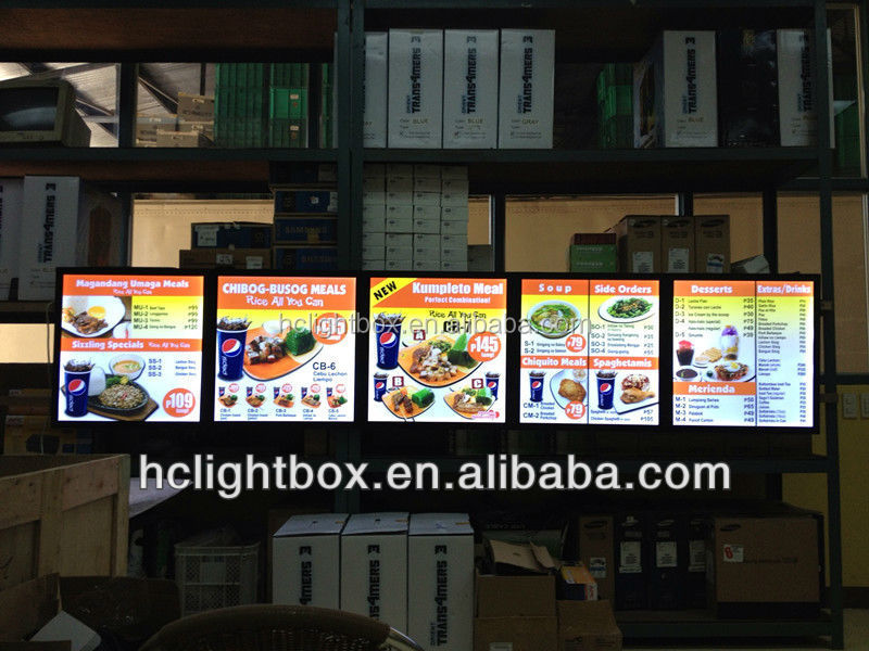 led menu board light box menu light box restaurant picture photo frame