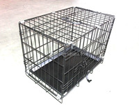 Wuyi Chuangquanxing double doors metal wire mesh pet cage crate