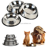 New High Quality Portable Convenient Stainless Steel Pet Dog For Cat Puppy Food Water Single Bowl Feeding Dish Travel