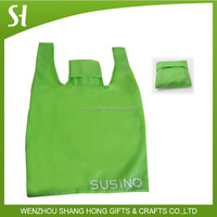 2015 recyclable polyester bag foldable bag polyester