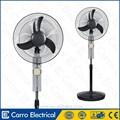 Última ventilador 16inch o 18inch de la batería AC DC de pie, dolbe potencia ventiladores solar y batería