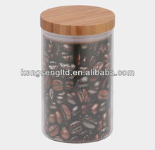 Airtight vasilha de vidro com tampa de bambu