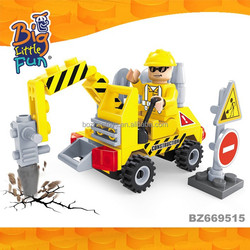 Engineering truck toys new products 2015 building blocks set