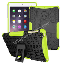 pc + tpu case multi-solor hybrid case for apple iPad mini 1 2 3 with stand
