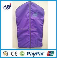 Custom printed folding clear garment bags with zipper