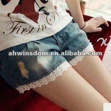 2012 fashion denim shorts for girls