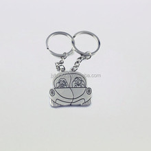 one couple in a car metal key rings