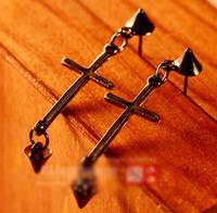Дешевые украшения модниц простой крест заклепки Стад Серьги