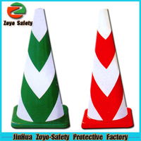 Zoyo-Safety Factory Wholesale Road Leader Adjustable Reflective PVC Or Cotton plastic cone shape